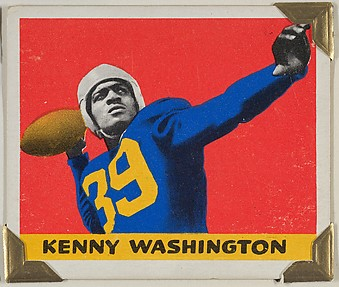 Kenny Washington, from the All-Star Football series (R401-2), issued by Leaf Gum Company
