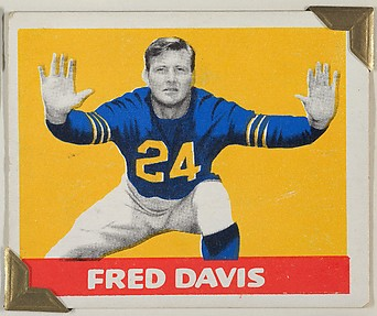 Fred Davis, from the All-Star Football series (R401-2), issued by Leaf Gum Company