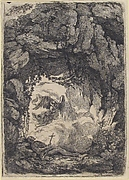 Hermit and Angel in a Landscape