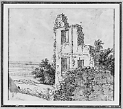 An Allée of Trees in a Park (recto); The Ruins of a Building on a Hill (verso)