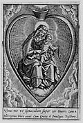 Virgin and Child in a Heart