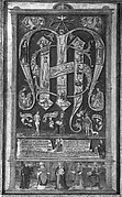Sacred Monogram with the Trinity, Instruments of the Passion, and Saints