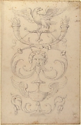 Drawing of a Grotesque after a 16th-century Decorative Relief.