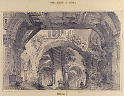 Architectural Ruins with a View of a Garden; Stage design for