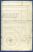 Rule for Drawing the Spiral Lines of the Volute of the Ionic Order, in Chippendale Drawings, Vol. I