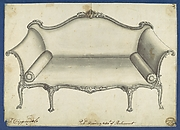 Sofa, in Chippendale Drawings, Vol. I