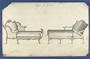 Two Couches, in Chippendale Drawings, Vol. I