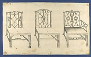 Chinese Chairs, in Chippendale Drawings, Vol. I