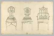 Hall Chairs, in Chippendale Drawings, Vol. I