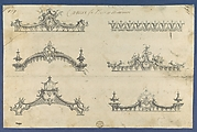Cornices for Beds or Windows, in Chippendale Drawings, Vol. I