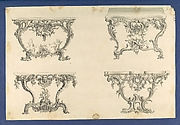 Frames for Marble Slabs, in Chippendale Drawings, Vol. I