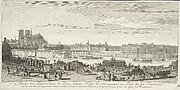 Autre Vue Particulière de Paris depuis Nôtre Dame, Jusques au Pont de la Tournelle