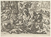 Bear Hunt from a Set of Ten Hunting Scenes (1609)