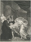 Rome, Titus's Garden–Lucius Pursued by Lavinia (Shakespeare, Titus Andronicus, Act 4, Scene 1)