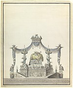 Catafalque of the Empress Catherine the Great of Russia (Side Elevation).