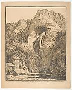 Das Schloss Prediama in Crein XII Stund: von Triest