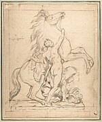Study for one of the 'Chevaux de Marly'