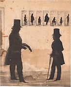 Two Men, One Cutting a Silhouette