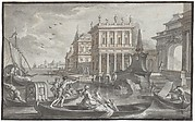 Canal Scene with a Palazzo