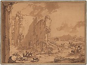 Italianate Landscape with the Ruins of Brederode Castle