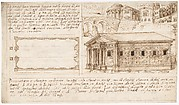 Recto: Temple Types: in Antis and Prostyle (Vitruvius, Book 3, Chapter 2, nos. 2, 3); Verso: Temple Types: Peripteral (Vitruvius, Book 3, Chapter 2, no. 5).