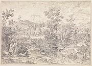Roman landscape with figures near Paliano