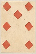 Seven of Diamonds, from a Set of Piquet Cards