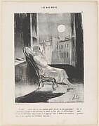 O Lune!...Inspire-moi ce soir quelque petite pensée..., from Les Bas-Bleus, published in Le Charivari, February 28, 1844