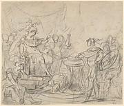 Mucius Scaevola Before King Porsenna
