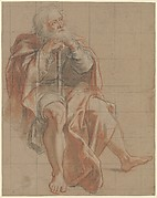 Seated Old Man Holding a Staff