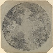 Study for the decoration of the ceiling of the Opéra Comique