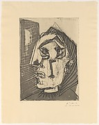 Weeping Woman in Front of a Wall