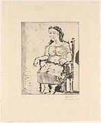 Woman in an Armchair: Dora Maar