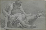 Two Nude Male Figures