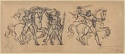 Three Warriors and Their Horses, Study for a Bas Relief Sculpture in the Chateau de Tervueren