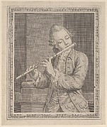 Player of a transverse flute