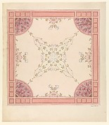 Design for a Ceiling with Magnolias