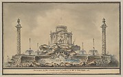 Design for the Fireworks Display in Paris for the Birth of the Dauphin in 1781
