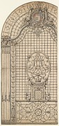 Design for the Wrought-Iron Entrance Grille of a Chapel