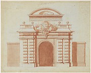 Elevation of an Entrance to a Riding School
