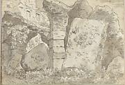 Roman Ruins (Smaller Italian Sketchbook, leaf 10 recto)
