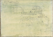 Roman Ruins (Smaller Italian Sketchbook, leaf 12 recto)