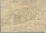 Landscape with Villa Surrounded by Trees (Smaller Italian Sketchbook, leaf 22 recto)