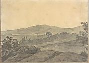 Landscape with Distant Buildings (Smaller Italian Sketchbook, leaf 28 recto)