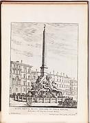 Altra Veduta della Fontana in Piazza Navona [Fontana dei Quattro Fiumi]. From 'La Fontane di Roma nelle Piazze e Luoghi Publici (...)'.