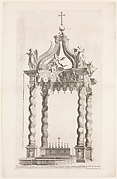Isolated View of Bernini's Baldacchino. Plate 39 from the Album 'Basilica di S. Pietro in Vaticano'