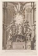 Cathedram S. Petri in interiore templi fronte...Plate 41 from the Album 'Basilica di S. Pietro in Vaticano'