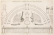 Portici della piazza di S. Pietro di Roma. Plate 44 from the Album 'Basilica di S. Pietro in Vaticano'