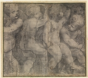 Putti Playing with Hoops (Cartoon for a Fresco in the Parma Cathedral)