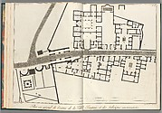 Large plan of the entrance of the town of Pompeii, and its surrounding buildings, from Antiquités de Pompeïa, tome premier, Antiquités de la Grande Grèce... (Antiquities of Pompeii, volume one, Antiquities of Great Greece...), volume 1, plate 2